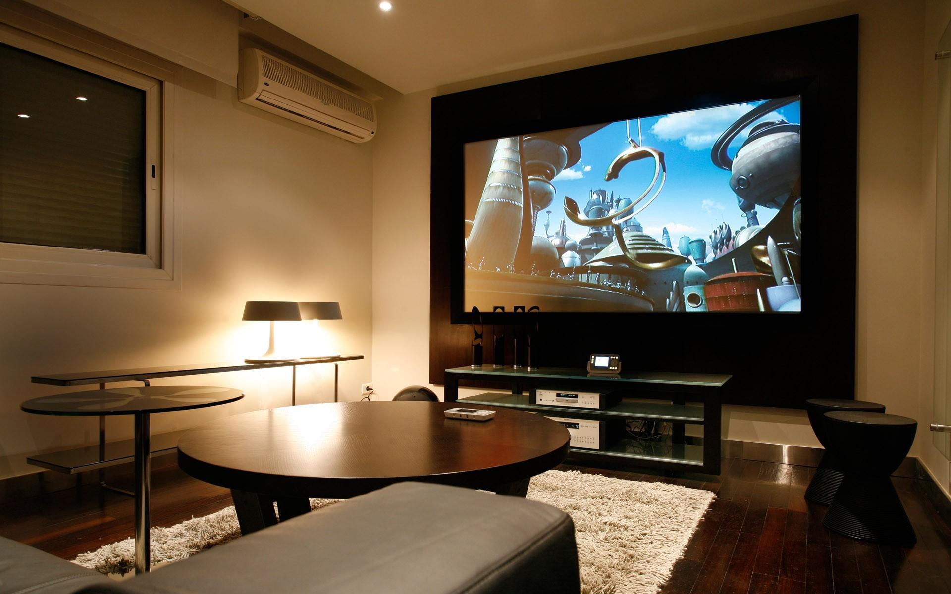 Sala Clásica Con Televisor Hd 1920x1200