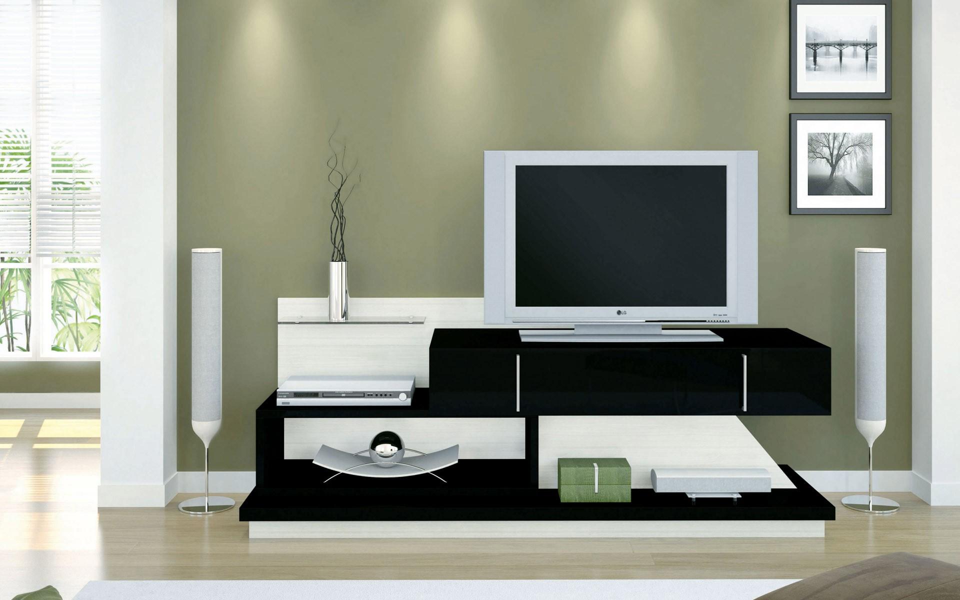 Sala moderna con televisor - 1920x1200