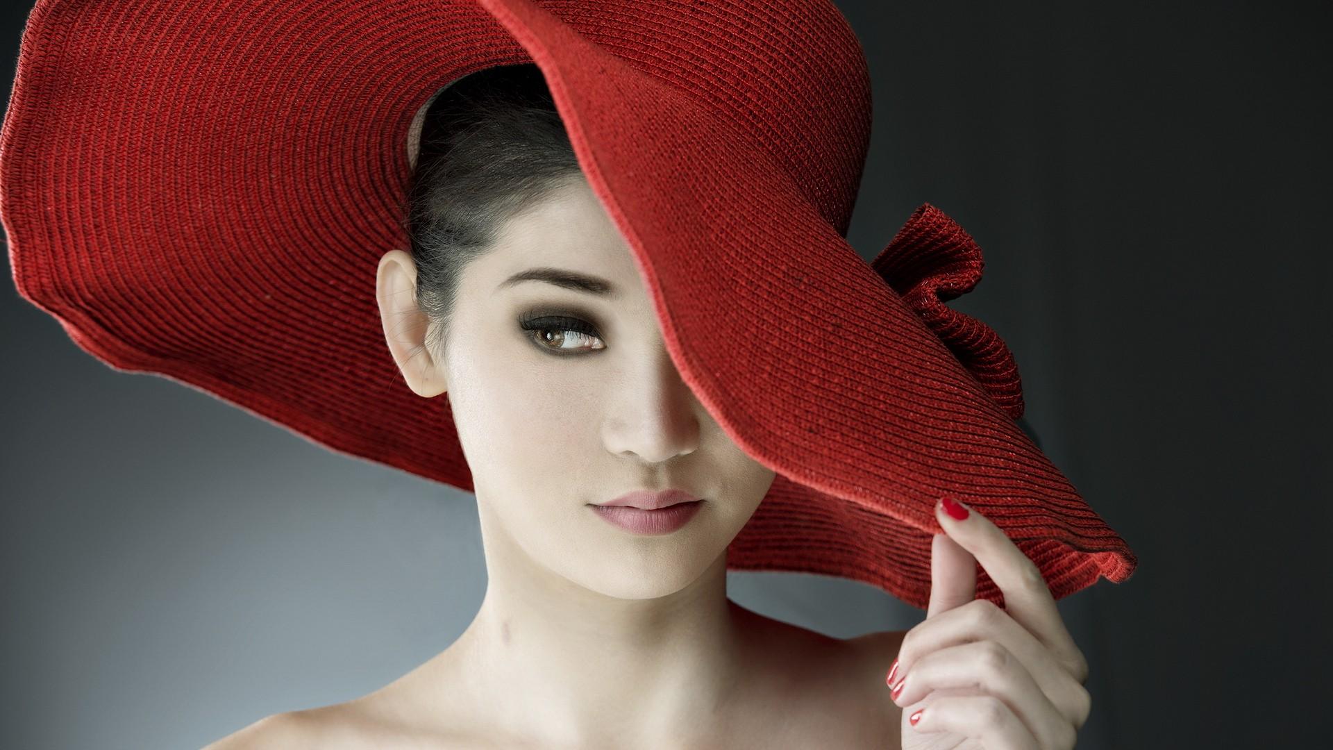 Sombrero rojo de paja - 1920x1080