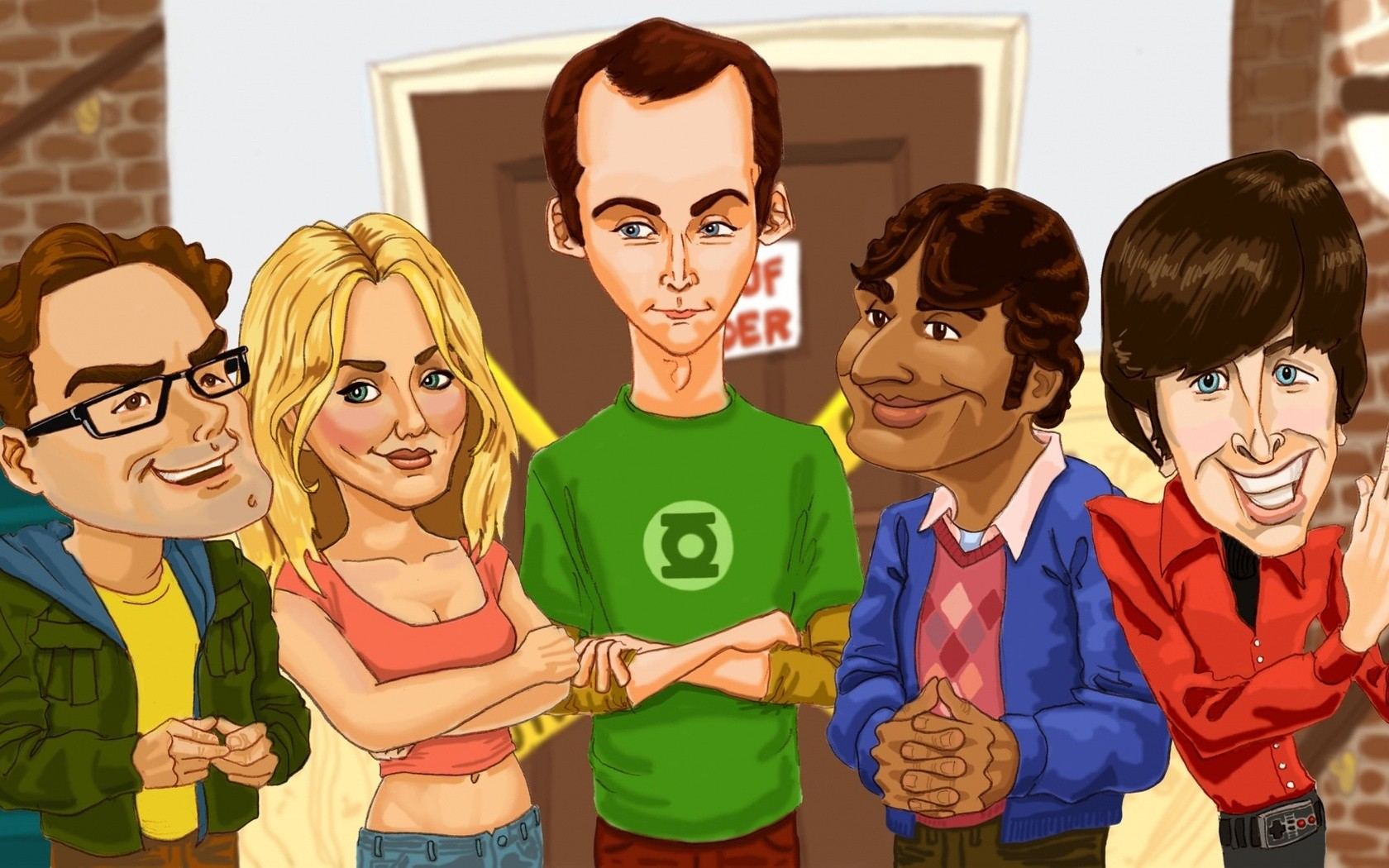 The Big Bang Theory dibujos - 1680x1050