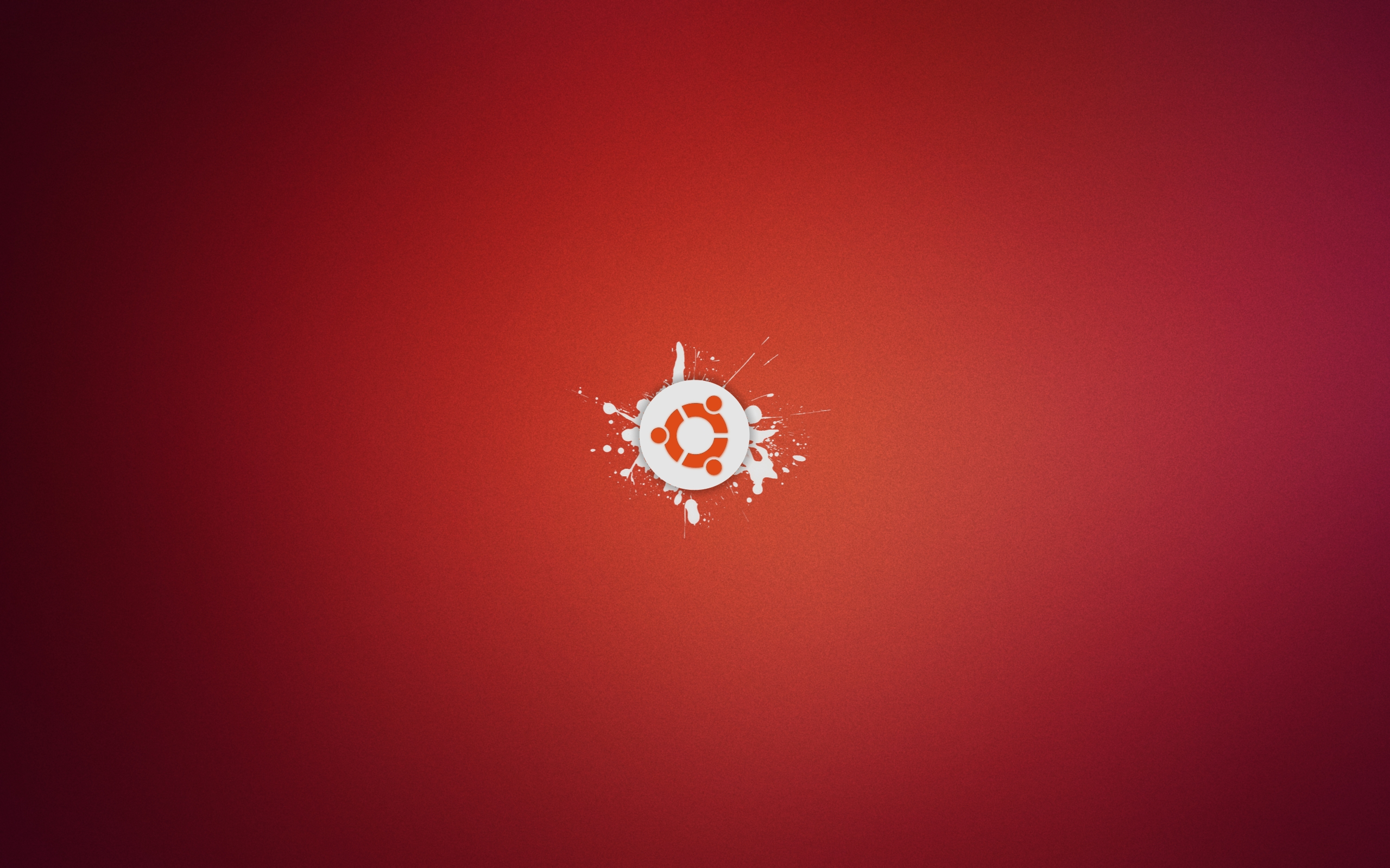 Ubuntu abstracto rojo - 2560x1600