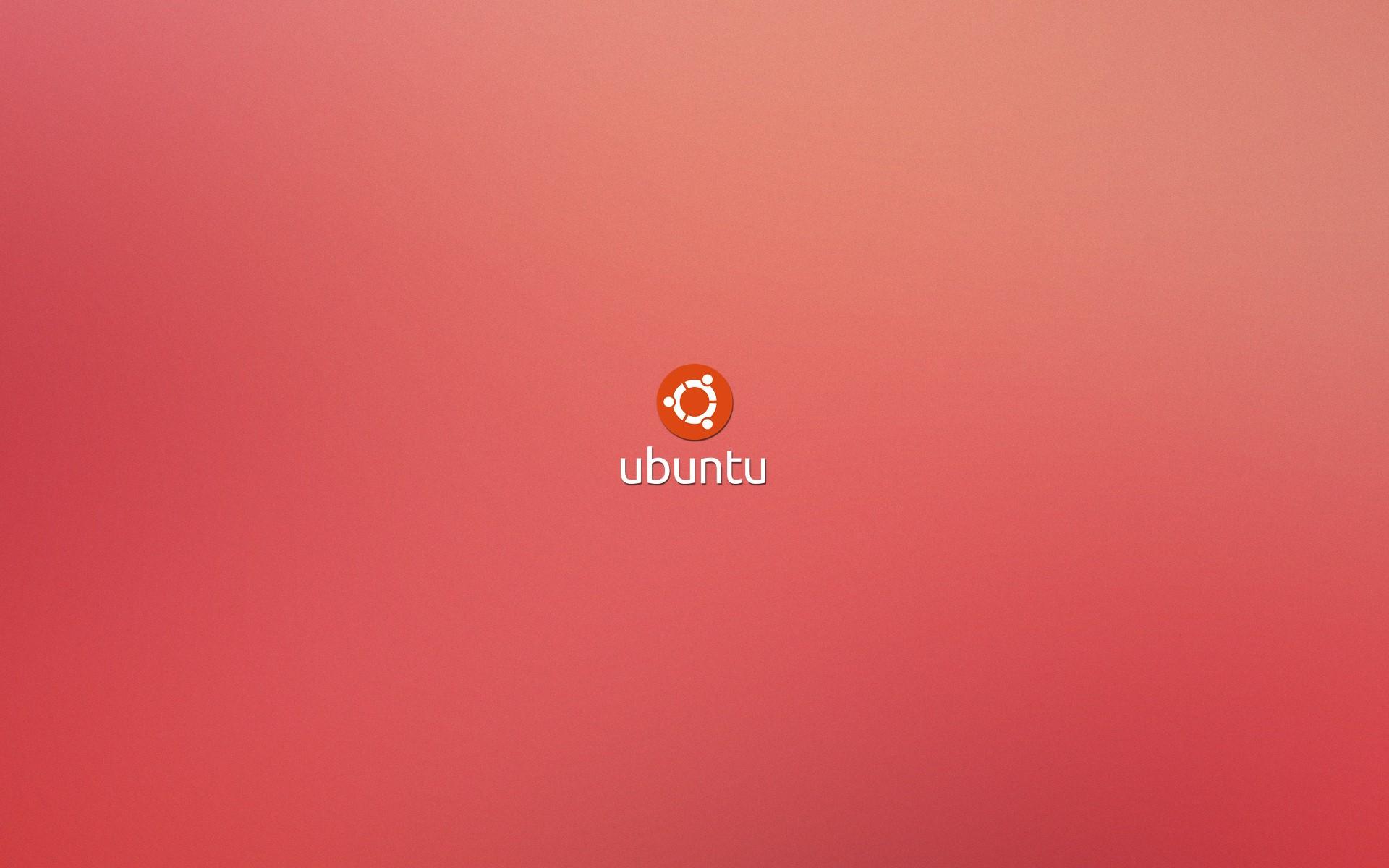 Ubuntu fondo color rosa - 1920x1200