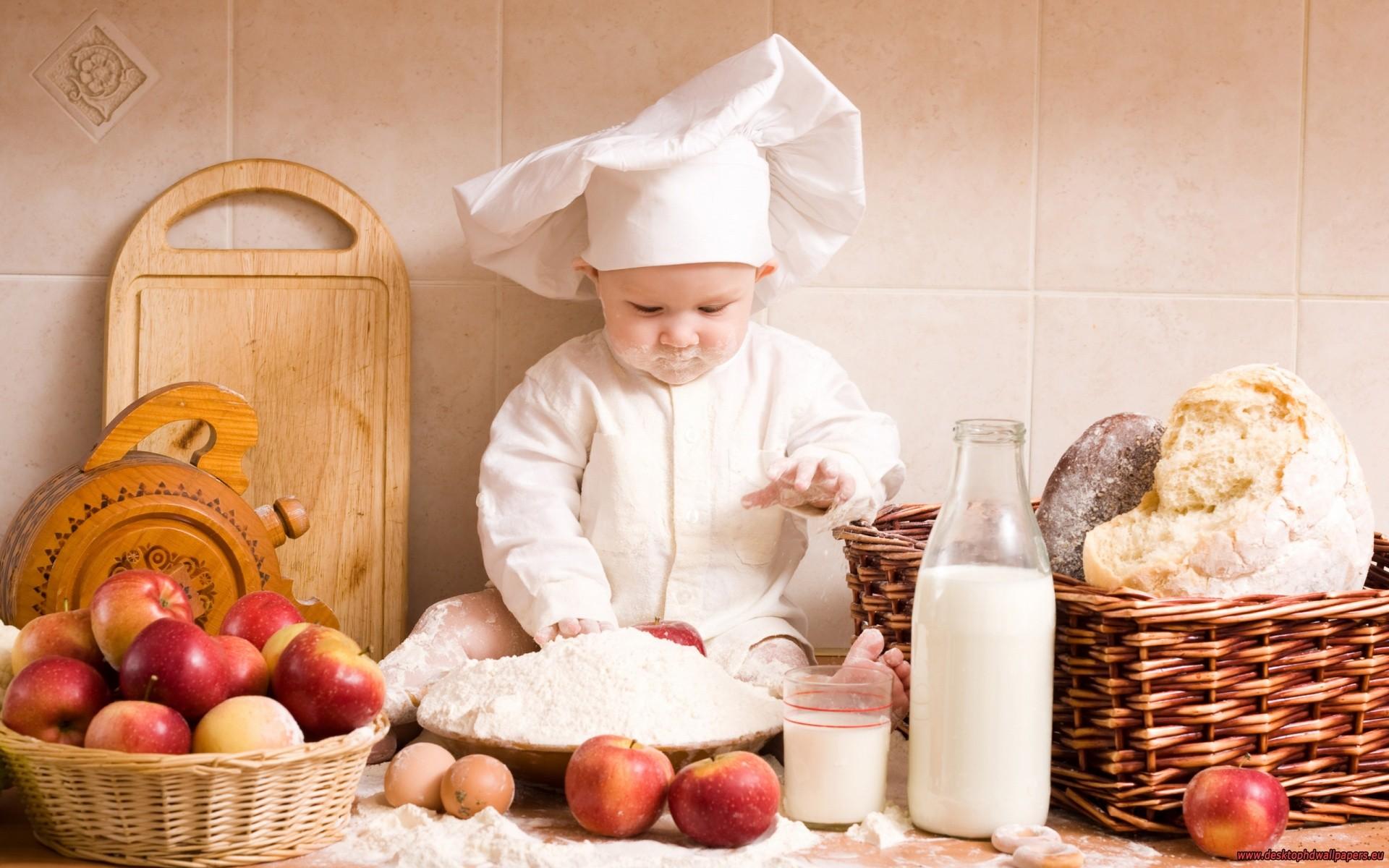 Un bebe cocinero - 1920x1200