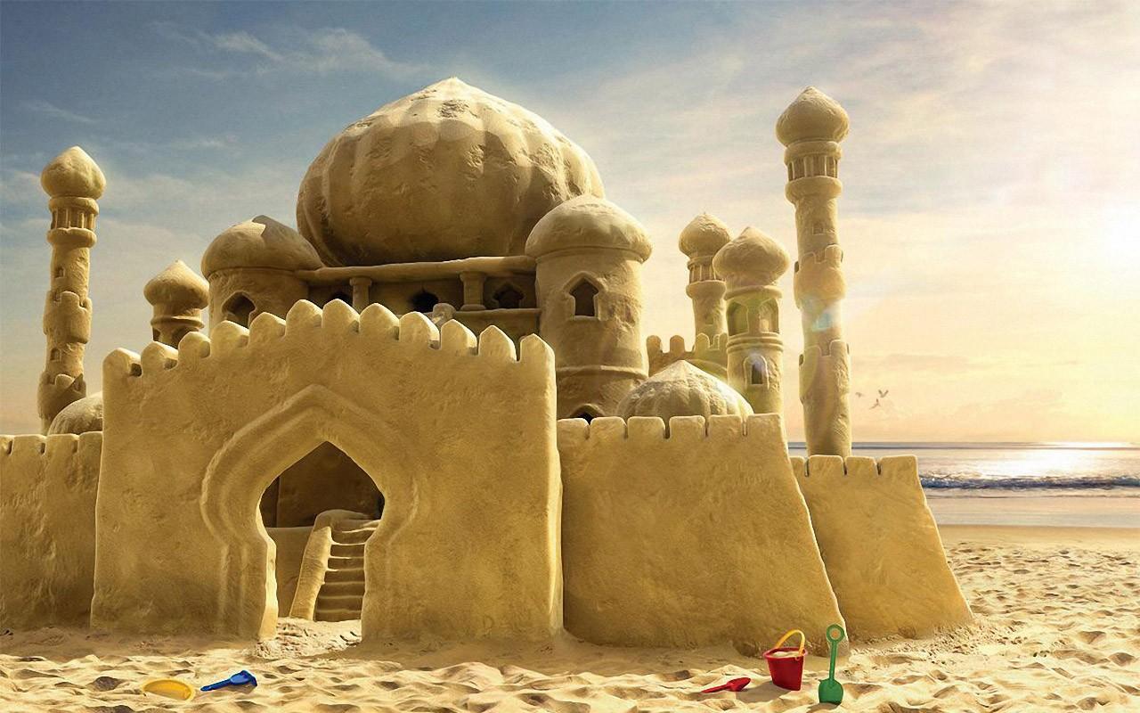 Un castillo de arena - 1280x800