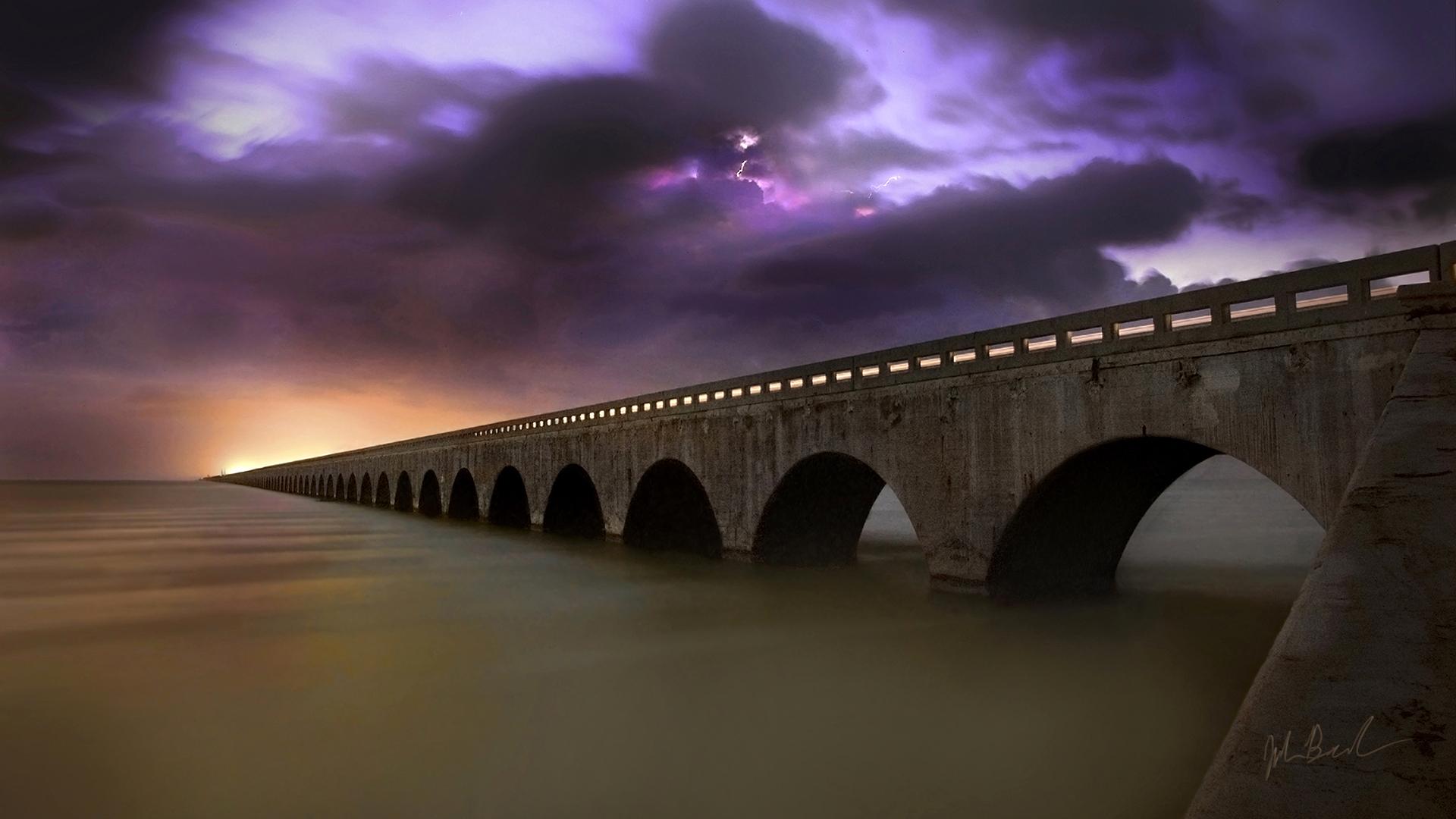 Un gran puente en el mar - 1920x1080