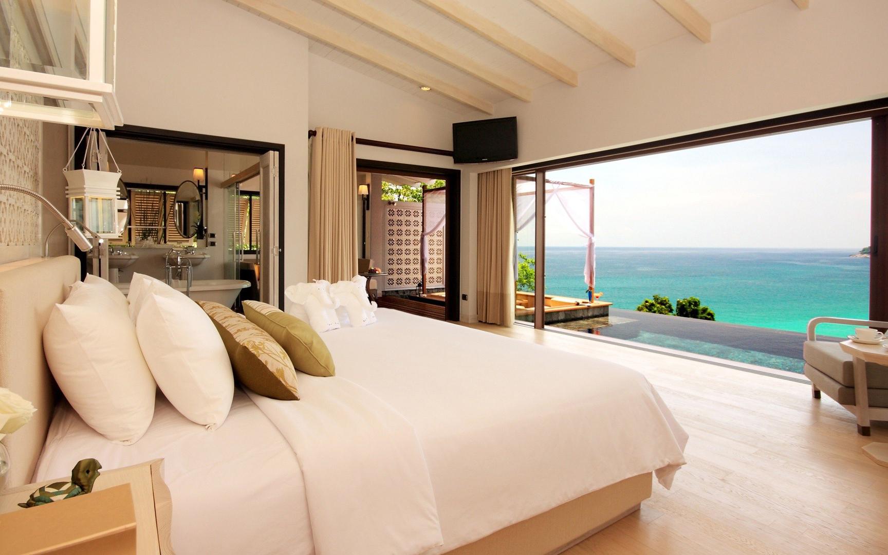 Una casa de playa su interior - 1728x1080