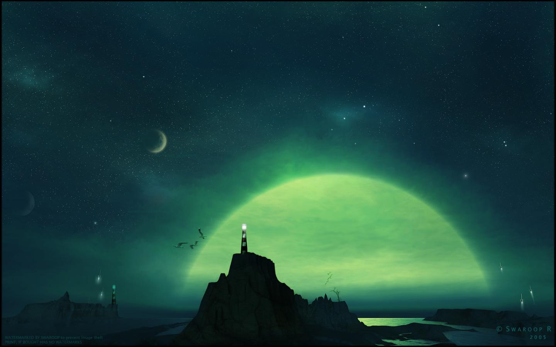 Una noche en una playa digital - 1440x900
