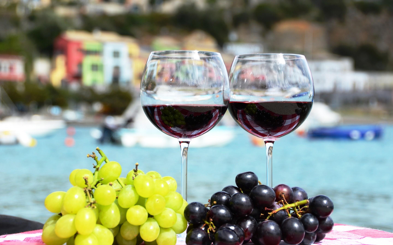 Vino y uvas - 2880x1800