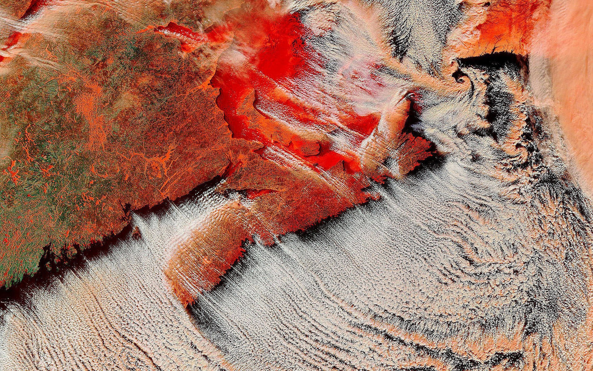 Vista Satélite de la Tierra - 1920x1200