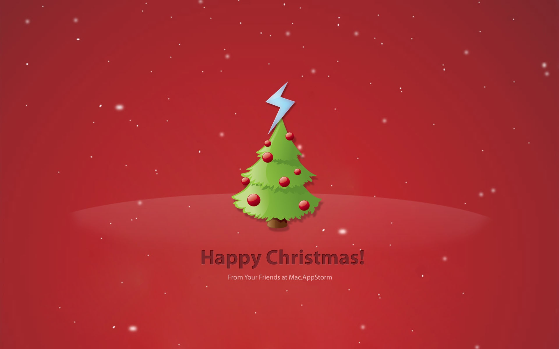 Wallpaper para Navidad 2014 fondo rojo - 1920x1200