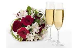 Flores y Champagne