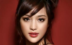 Rostro de una asiática