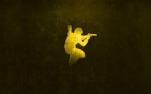 La silueta de un soldado