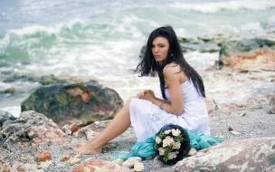 Una novia en la playa
