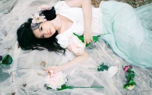 Una asiática de novia