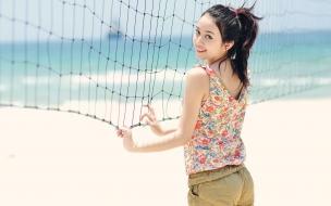 Una asiática deportista