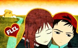 Dibujo de jóvenes enamorados