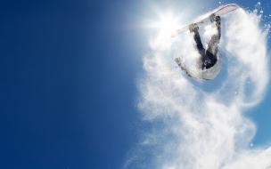 Salto sobre las nieves