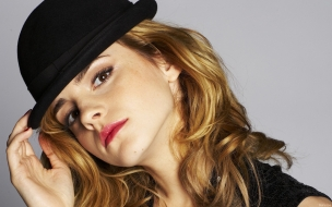 Emma Watson con sombrero