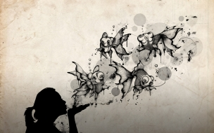 Un beso abstracto