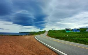 Una pista en paisaje