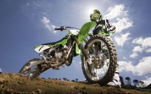 Motocross color verde