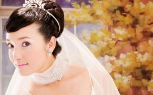Peinado de novia asiática