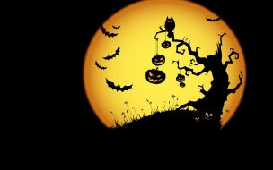 La luna llena en halloween
