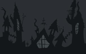 Castillo de noche de brujas