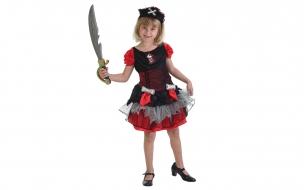 Niña pirata con espada