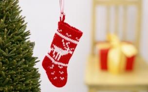 Media de lana por navidad