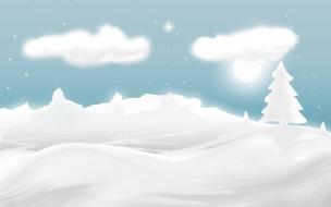 Dibujo de nieve y navidad