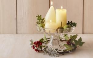 Velas de adorno para navidad