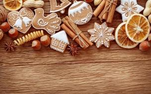 Galletas y dulces por navidad