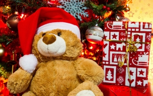 Peluche de regalo por navidad