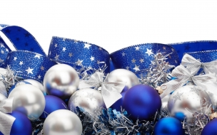 Adornos azules para navidad