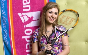 Una linda tenista
