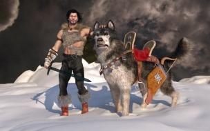 Guerrero y su perro