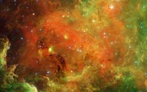 El espacio exterior de colores