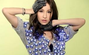 Modelos asiáticas jóvenes