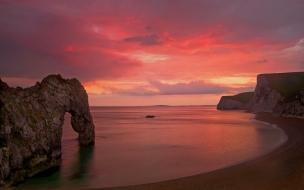 Durdle Dore sunset Dorset