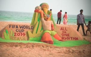 Escultura del Mundial Brasil 2014