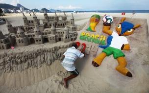 Esculturas de arena Brasil 2014