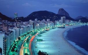 Copacabana Beach en Rio de Janeiro