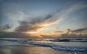 Amanecer en una playa