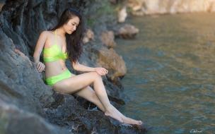 Asiaticas en bikini