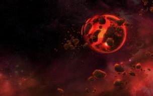 Asteroides en el espacio