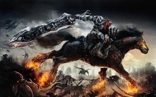 Guerrero montando un caballo