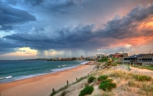 Dia de tormenta en la playa