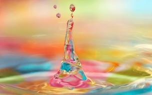 Agua y luces de colores